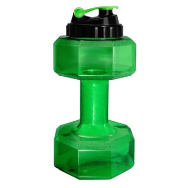 Be First Бутылка-гантеля для воды БЕЗ ЛОГОТИПА (SN6010-Green-NO) 2200 мл зеленая