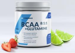 CyberMass BCAA 8:1:1+Glutamine 220 г Лайм-Клубника