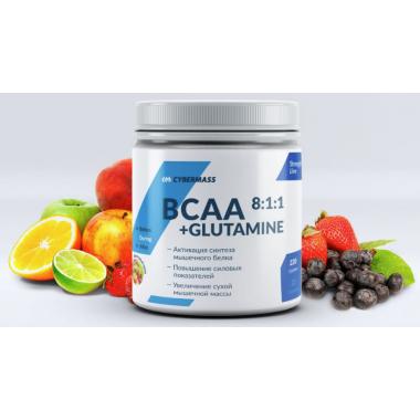 CyberMass BCAA 8:1:1+Glutamine 220 г Фруктовый пунш
