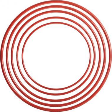 Обруч пластмассовый 100 см красный