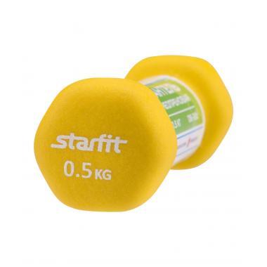 Гантель неопреновая STARFIT DB-201 0,5 кг, песочный (1 шт.) 1/40