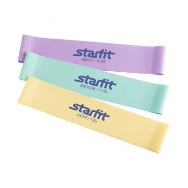 Комплект мини-эспандеров STARFIT ES-203, пастельный