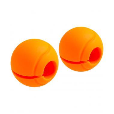 Комплект расширителей хвата STARFIT BB-111, d=25 мм, сфера, оранжевый (2 шт)
