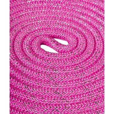 Скакалка для х/г Amely RGJ-403, 3м, розовый/серебряный, с люрексом