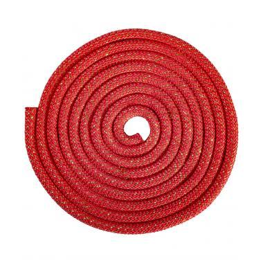 Скакалка для х/г Amely RGJ-403, 3м, красный/золотой, с люрексом