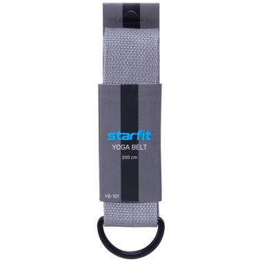 Ремень для йоги STARFIT YB-101, 200 см, серый