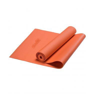 Коврик для йоги STARFIT FM-101 PVC 173x61x0,4 см, оранжевый 1/20