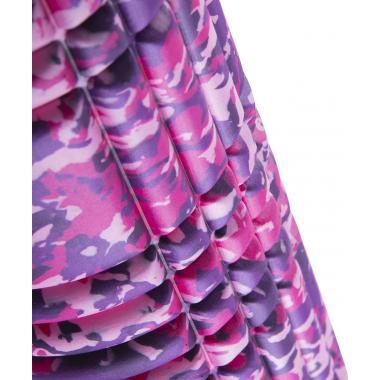 Ролик массажный STARFIT FA-508, 33x14 cм, розовый камуфляж/черный