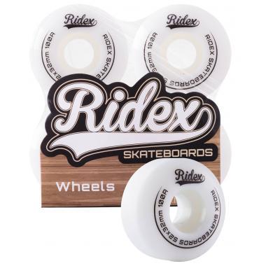 Комплект колес для скейтборда RIDEX SB, 100А, 52*32, белый, 4 шт
