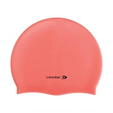 Шапочка для плавания Longsail, силикон, коралловый