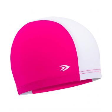 Шапочка для плавания Longsail детская, полиамид, розовый/белый