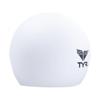 Шапочка для плавания TYR Latex Swim Cap, латекс, белый LCL/100