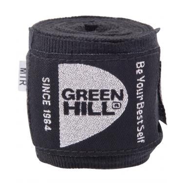 Бинт боксерский Green Hill BP-6232a, 2,5м, эластик, черный