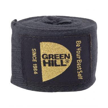 Бинт боксерский Green Hill BC-6235c, 3,5м, х/б, черный 1/10