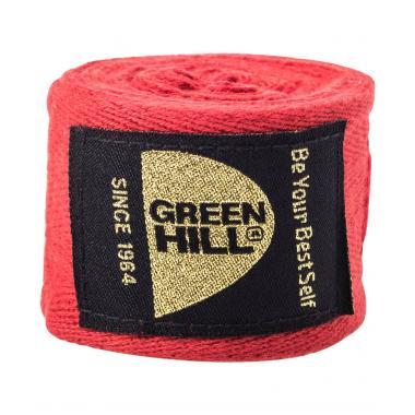 Бинт боксерский Green Hill BC-6235c, 3,5м, х/б, красный 1/10