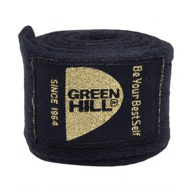 Бинт боксерский Green Hill BC-6235d, 4,5м, х/б, черный