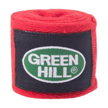 Бинт боксерский Green Hill BC-6235a, 2,5м, х/б, красный 1/10