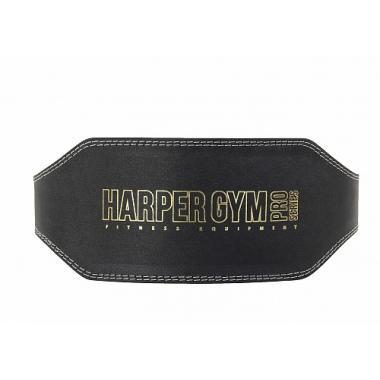 Пояс для тяжелой атлетики усиленный (широкий) Harper Gym JE-2622 черн.нат.кожа (L)