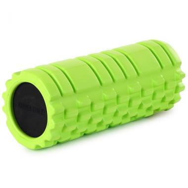 Цилиндр рельефный для фитнеса Harper Gym EG02 Ø13см х 33 см салатовый