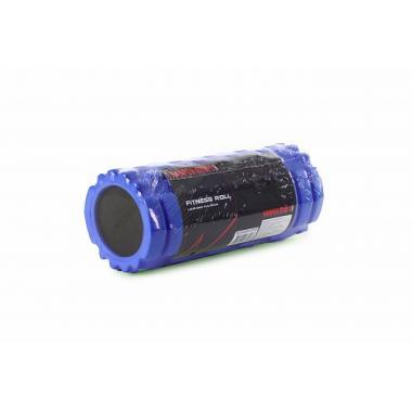 Цилиндр рельефный для фитнеса Harper Gym EG02 Ø13см х 33 см синий