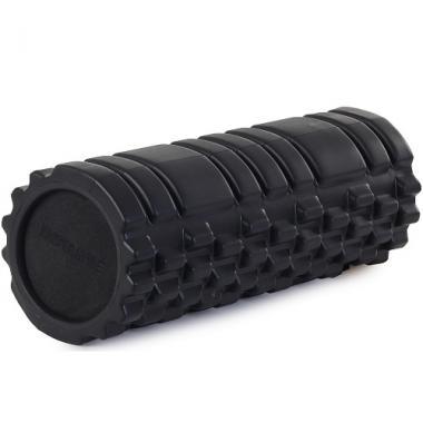 Цилиндр рельефный для фитнеса Harper Gym EG02 Ø13см х 33 см чёрный