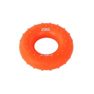 Эспандер кистевой круглый Start Up NT34036 с рельефом 25 кг оранжевый