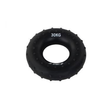 Эспандер кистевой круглый Start Up NT34036 с рельефом 30 кг чёрный