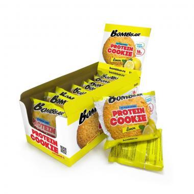 Печенье неглазированное Bombbar 60гр (коробка 10 шт.) (Арахис)