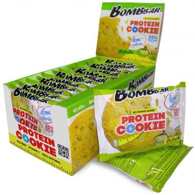 Bombbar Протеиновое печенье (12 шт шоубокс) Упаковка 40 г Фисташка