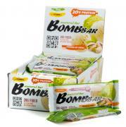 Bombbar Протеиновый батончик неглазированный (20 шт в уп) Упаковка 60 г фисташковый пломбир