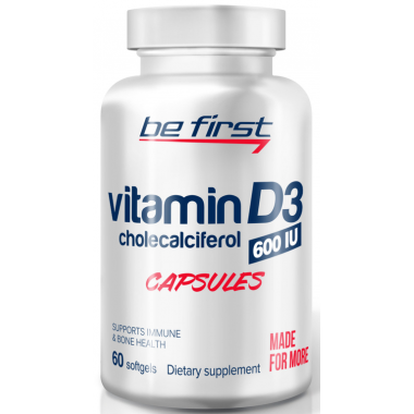 Be First Vitamin D3 60 гел.капсул
