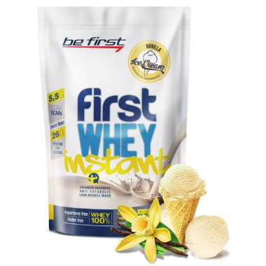 Be First First Whey instant 900 г ванильное мороженое
