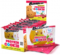 Bombbar Протеиновое печенье (12 шт шоубокс) Упаковка 40 г Вишня