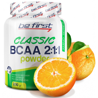 Be First BCAA 2:1:1 CLASSIC powder 200 г апельсин