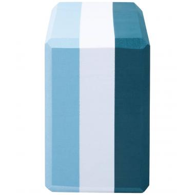 Блок для йоги STARFIT YB-201 EVA, 22,8х15,2х10 см, 350 гр, изумрудная радуга