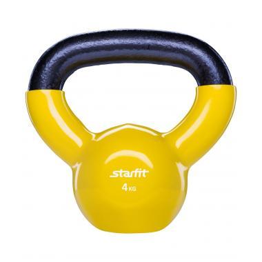 Гиря виниловая STARFIT DB-401 4 кг, желтая