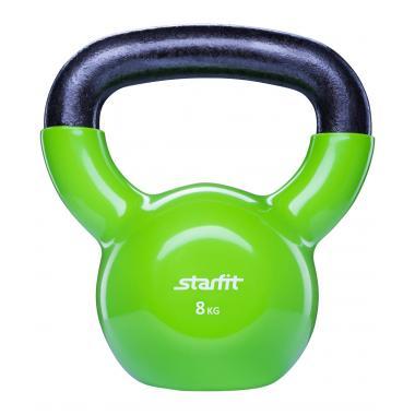 Гиря виниловая STARFIT DB-401 8 кг, зеленая