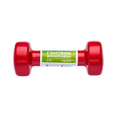 Гантель виниловая STARFIT DB-101 1 кг, красная (1 шт.)