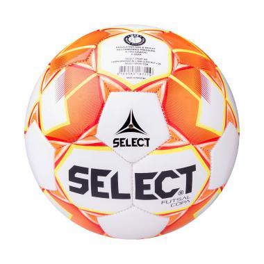 Мяч футзальный Futsal Copa 850318 №4, белый/оранжевый/желтый