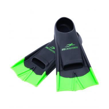 Ласты тренировочные Aquajet Black, Green, XXS 25Degrees