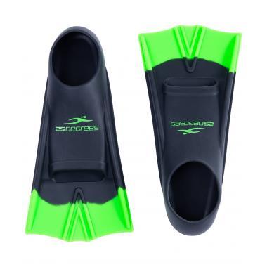 Ласты тренировочные Aquajet Black/Green, XS 25Degrees