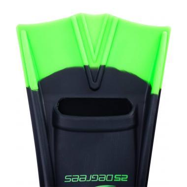 Ласты тренировочные Aquajet Black/Green, L 25Degrees
