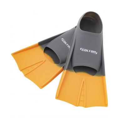 Ласты тренировочные CF-01, серый/оранжевый, размер 33-35 Colton