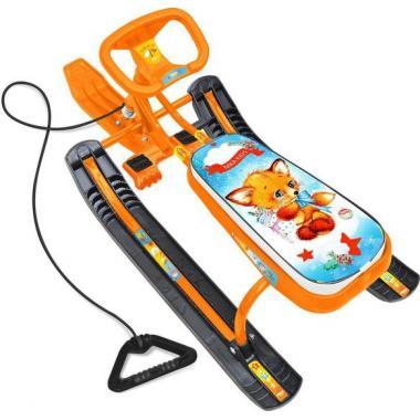 Снегокат Тимка спорт 1 ТС1/Л с лисенком (оранжевый каркас)