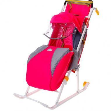 Санки коляска Ника детям 2 с колесом