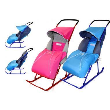 Санки коляска Тимка 2 Комфорт (с колесом)