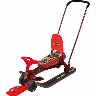 Снегокат Тимка Спорт 6 Граффити красный ТС6 выдвижные колеса