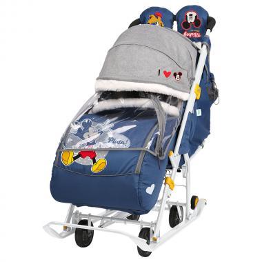 Коляска комбинированная с трансформируемым кузовом Disney baby 2 синий DB2