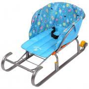 Сиденье для санок без чехла для ног Зима голубой СС2-1